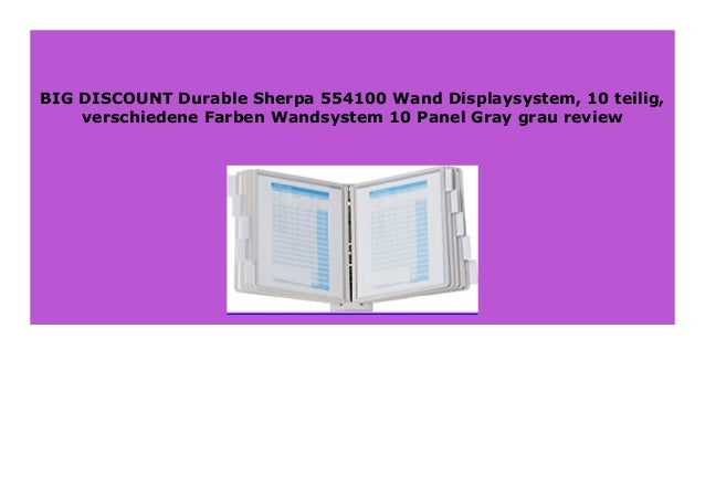 verschiedene Farben Wandsystem 10-Panel Gray grau 10-teilig Durable Sherpa 554100 Wand-Displaysystem