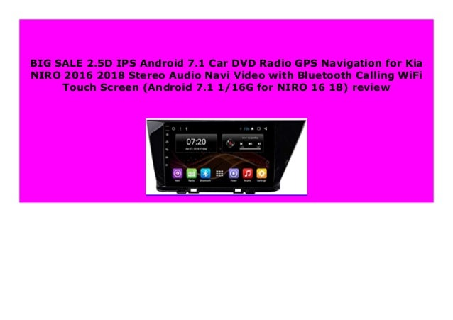 Best Buy 2 5d Ips Android 7 1 Car Dvd Radio Gps Navigation For Kia Ni