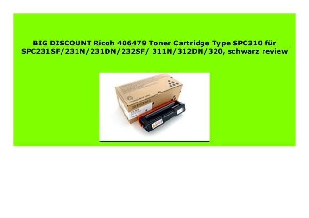 Toner SCHWARZ für Ricoh Aficio SP C-231-n SP C-310