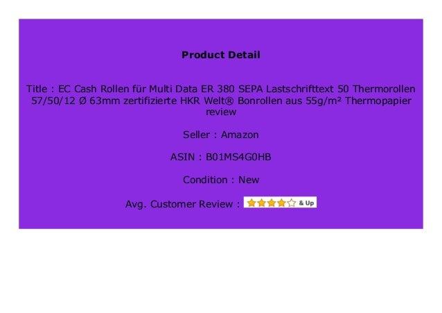 HKR-Welt Thermorollen 62mm x 50m 12mm 100 Thermo Kassenrollen zertifizierte HKR-Welt/® Bonrollen 62//50//12 /Ø 63mm
