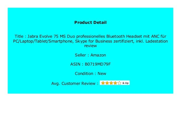 Big Sale Jabra Evolve 75 Ms Duo Professionelles Bluetooth Headset Mit