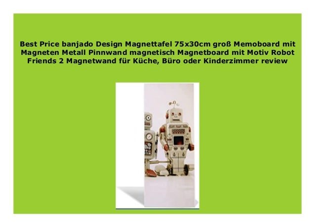 banjado Magnettafel 75x30cm Memoboard Metall Pinnwand Motiv Pusteblume 2