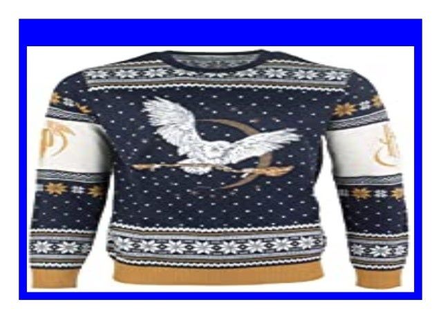 Harry Potter Ugly Christmas Sweater Hedwig for Men Women Boys and Girls