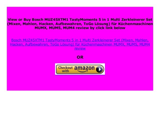 Bosch MUZ45XTM1-5 in 1 MULTI