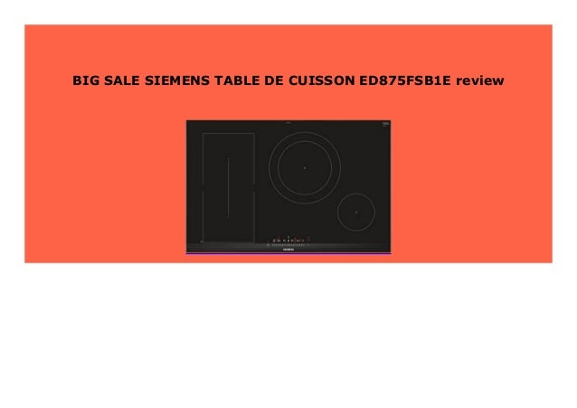 Best Seller Siemens Table De Cuisson Ed875fsb1e Review 366