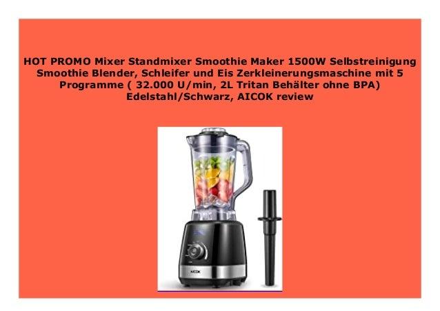|STANDMIXER 2000W Schleifer Eis-Zerkleinerungsmaschine Smoothie Maker Blender