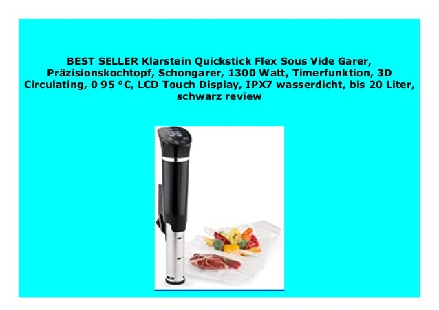 Sous Vide Garer mit LCD Touch Display Sous Vide Garer IPX7 Wasserdicht