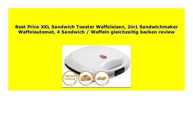 Waffelautomat 2in1 Sandwichmaker 4 Sandwich // Waffeln gleichzeitig backen XXL-Sandwich-Toaster Waffeleisen