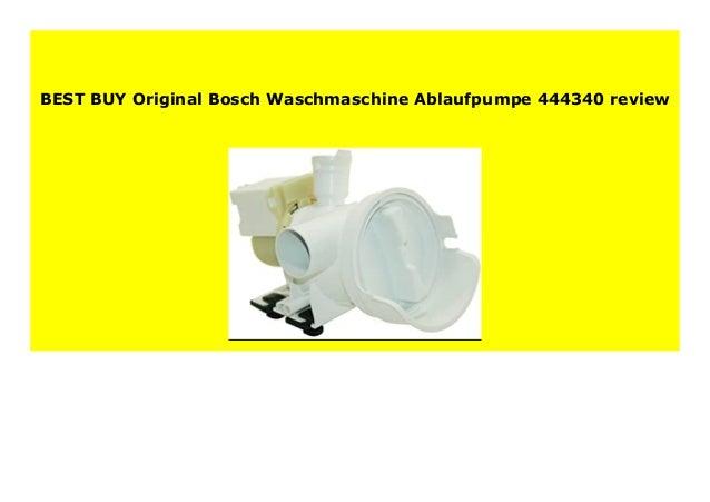 Original Bosch Waschmaschine Ablaufpumpe 444340