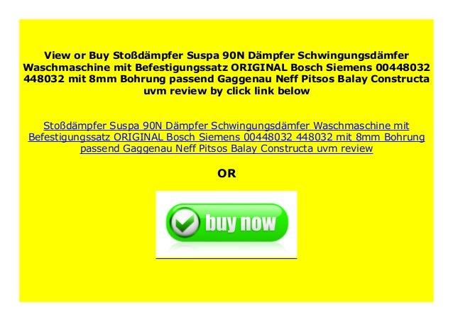 Stoßdämpfer Suspa 90N Waschmaschine ORIGINAL Bosch 00448032 mit Befestigungssatz