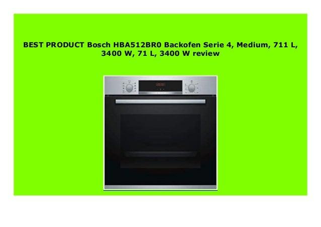 Elektro-Grogerte Backfen stpatinetes.es 3400 W Medium Bosch ...