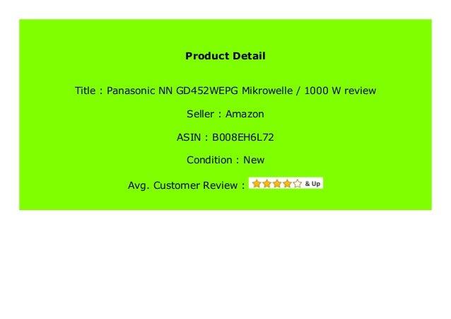 Panasonic NN-GD452WEPG Mikrowelle 1000 W