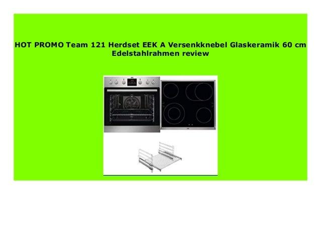 Bauknecht HEKO MADRID Einbauherd-Set mit Glaskeramik-Kochfeld Edelstahl