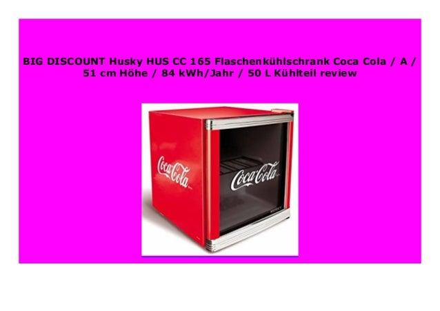 84 kWh//Jahr 51 cm H/öhe 50 L K/ühlteil A Husky HUS-CC 165 Flaschenk/ühlschrank Coca-Cola