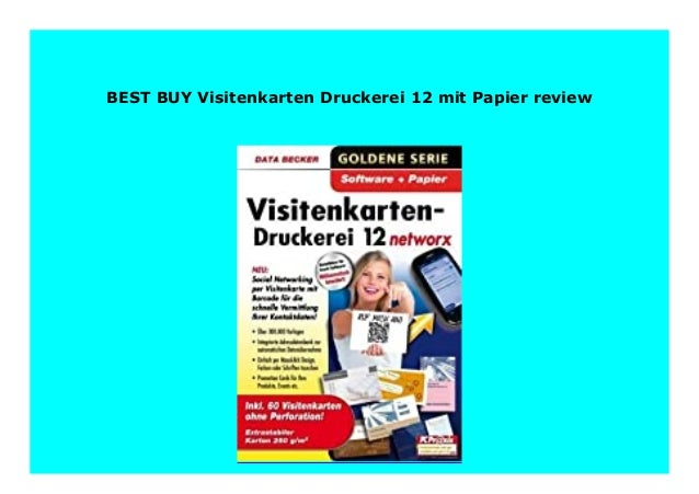 Best Buy Visitenkarten Druckerei 12 Mit Papier Review 251