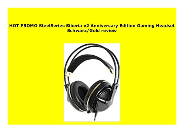 SteelSeries Siberia v2 Gaming Headset Schwarz