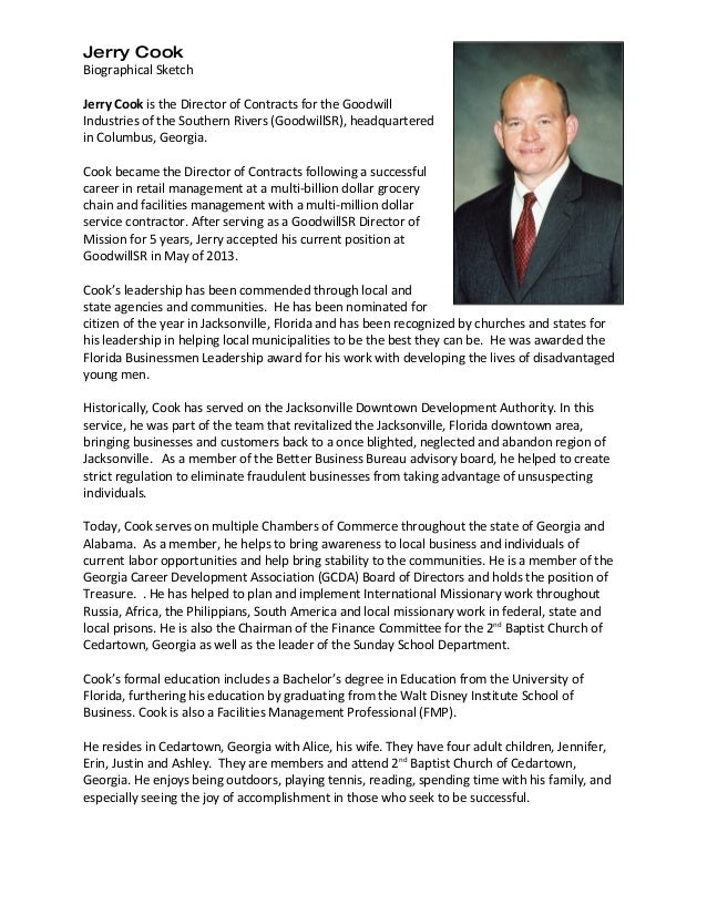 jerry cook biographical sketch 20151