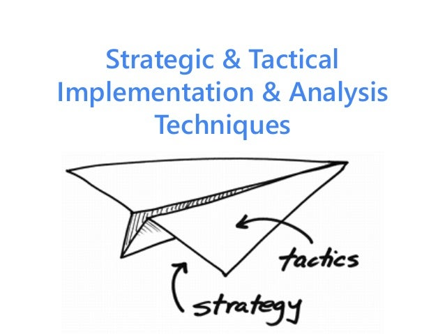 Strategic & Tactical Implementation & Analysis Techniques
