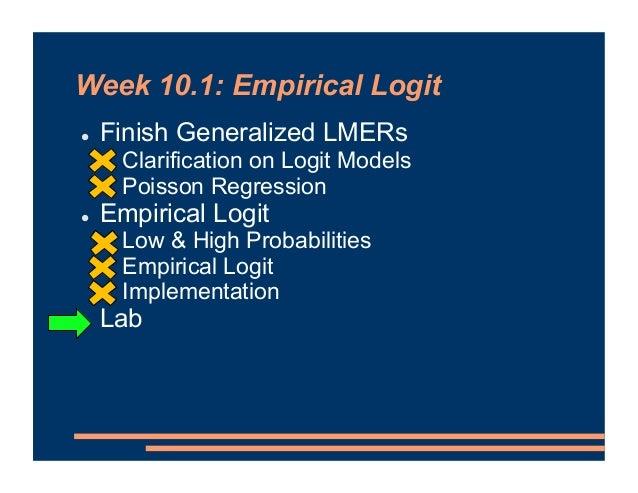 Mixed Effects Models - Empirical Logit