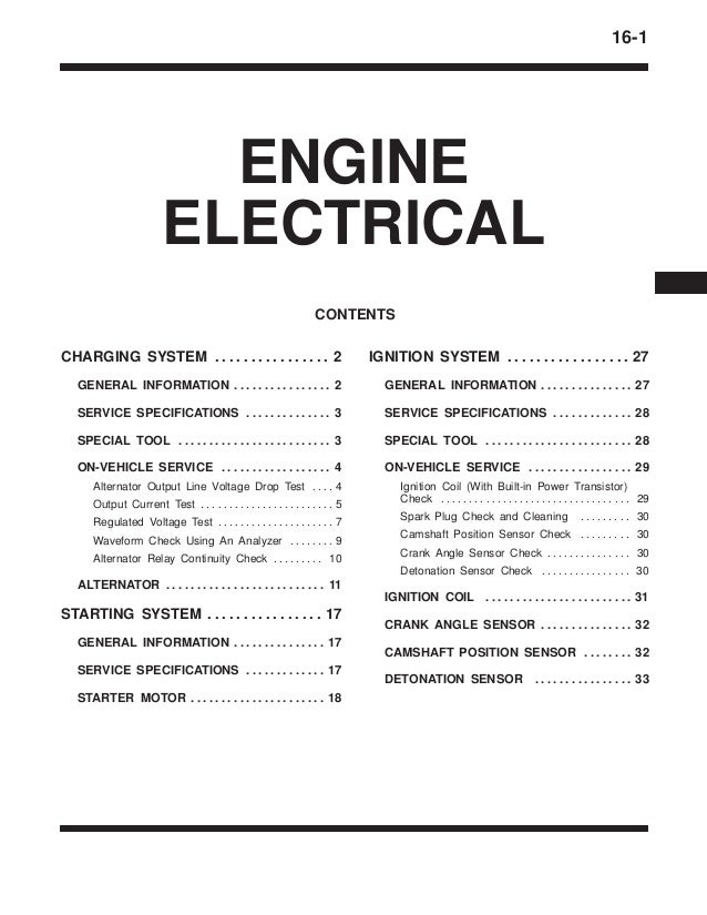 16 engine electrical