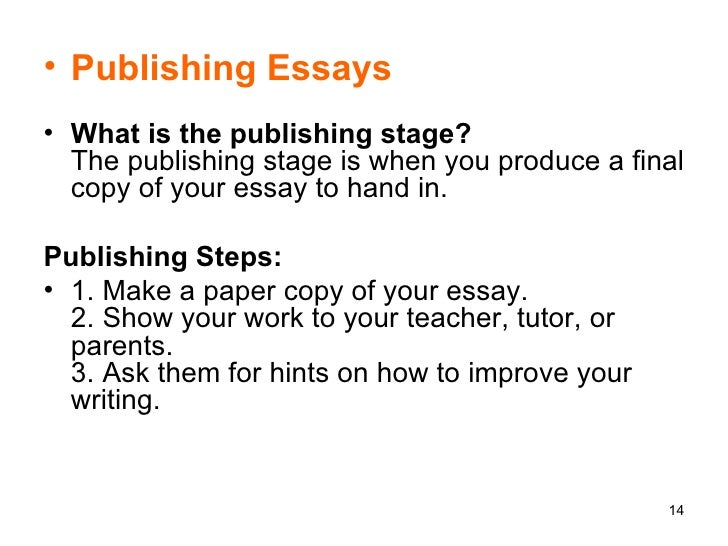 publishing essays