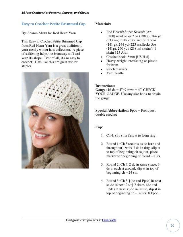 16 free crochet hat patterns scarves gloves 2ba3254c792