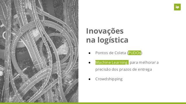 Inovações na logística ● Pontos de Coleta (PUDOs) ● Machine Learning para melhorar a precisão dos prazos de entrega ● Crow...
