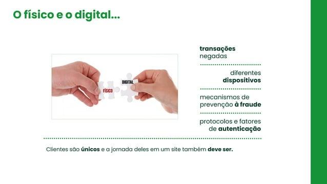 O físico e o digital... transações negadas diferentes dispositivos mecanismos de prevenção à fraude protocolos e fatores d...
