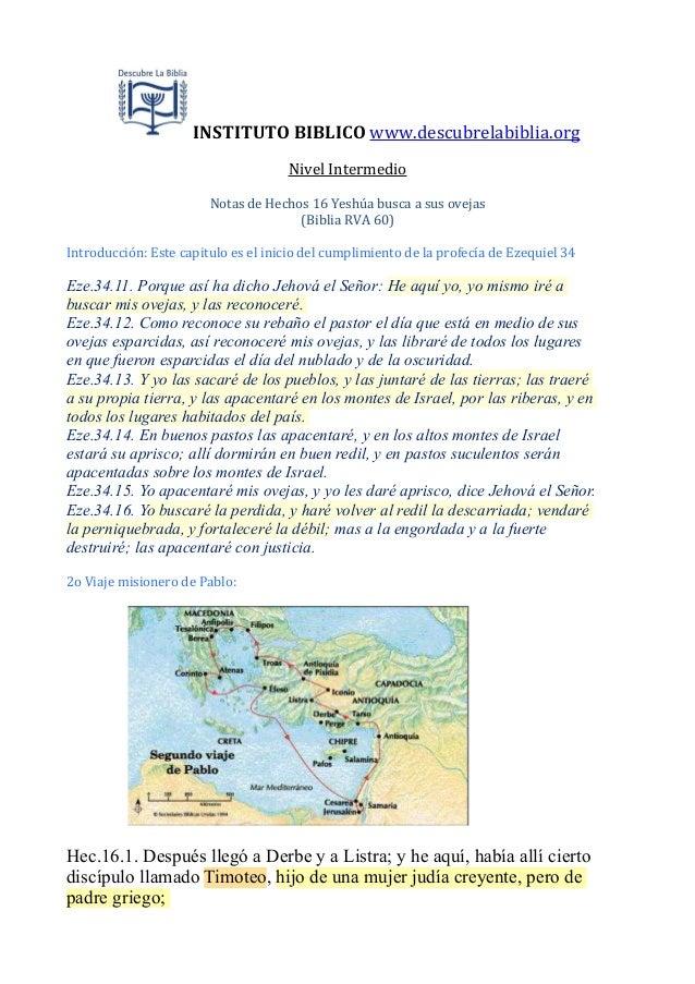 INSTITUTO  BIBLICO  www.descubrelabiblia.org Nivel  Intermedio Notas  de  Hechos  16  Yeshúa  busca  a ...