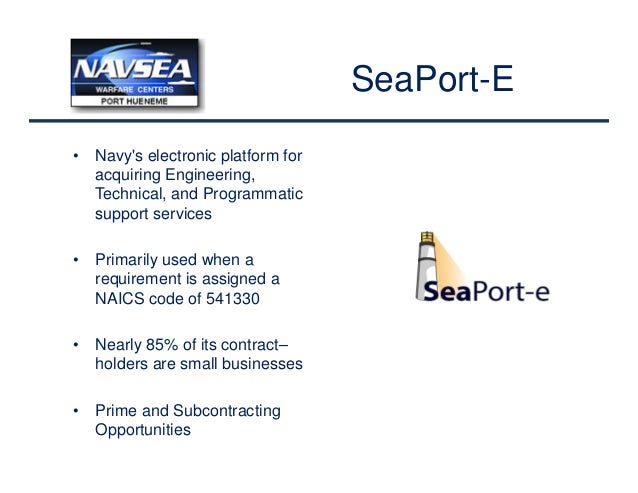 How to do business with nswc port hueneme nswc phd for Finding subcontracting opportunities