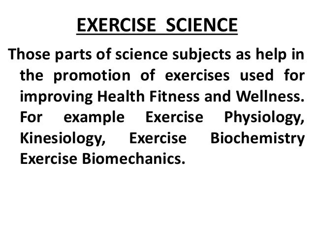 Kinesiology Exercise Science Wellness Promotion