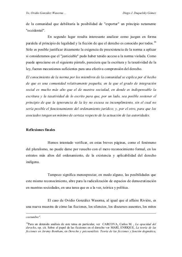 """Yo, Ovidio González Wasorna ... Diego J. Duquelsky Gómez de la comunidad que debilitaría la posibilidad de """"exportar"""" un p..."""