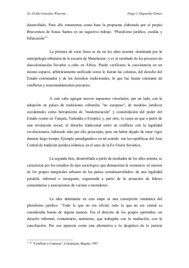Yo, Ovidio González Wasorna ... Diego J. Duquelsky Gómez desarrollado. Para ello tomaremos como base la propuesta elaborad...