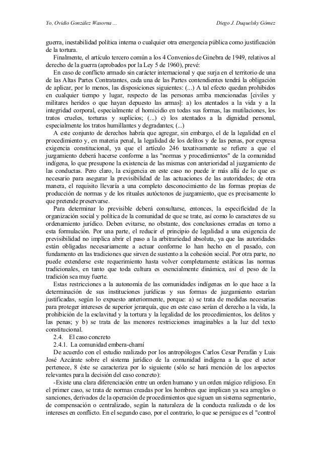 Yo, Ovidio González Wasorna ... Diego J. Duquelsky Gómez guerra, inestabilidad política interna o cualquier otra emergenci...