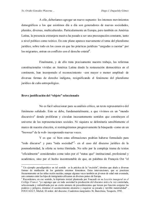 Yo, Ovidio González Wasorna ... Diego J. Duquelsky Gómez A ello, deberíamos agregar un nuevo supuesto: los intensos movimi...