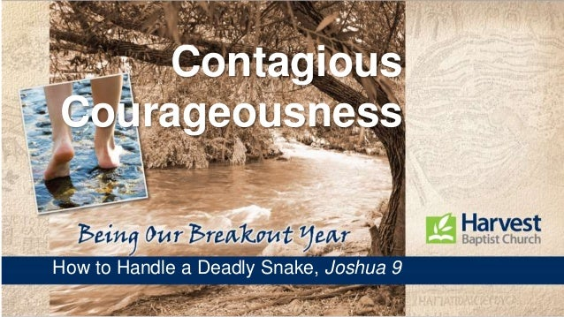 Contagious Courageousness How to Handle a Deadly Snake, Joshua 9