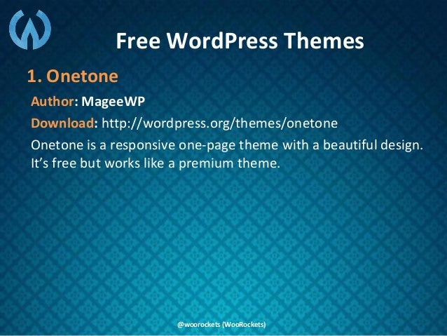 16+ New Free and Premium One Page WordPress Themes for