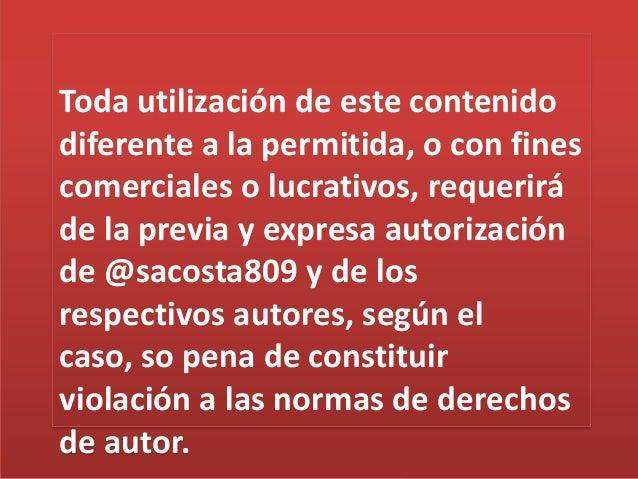 Toda utilización de este contenido diferente a la permitida, o con fines comerciales o lucrativos, requerirá de la previa ...
