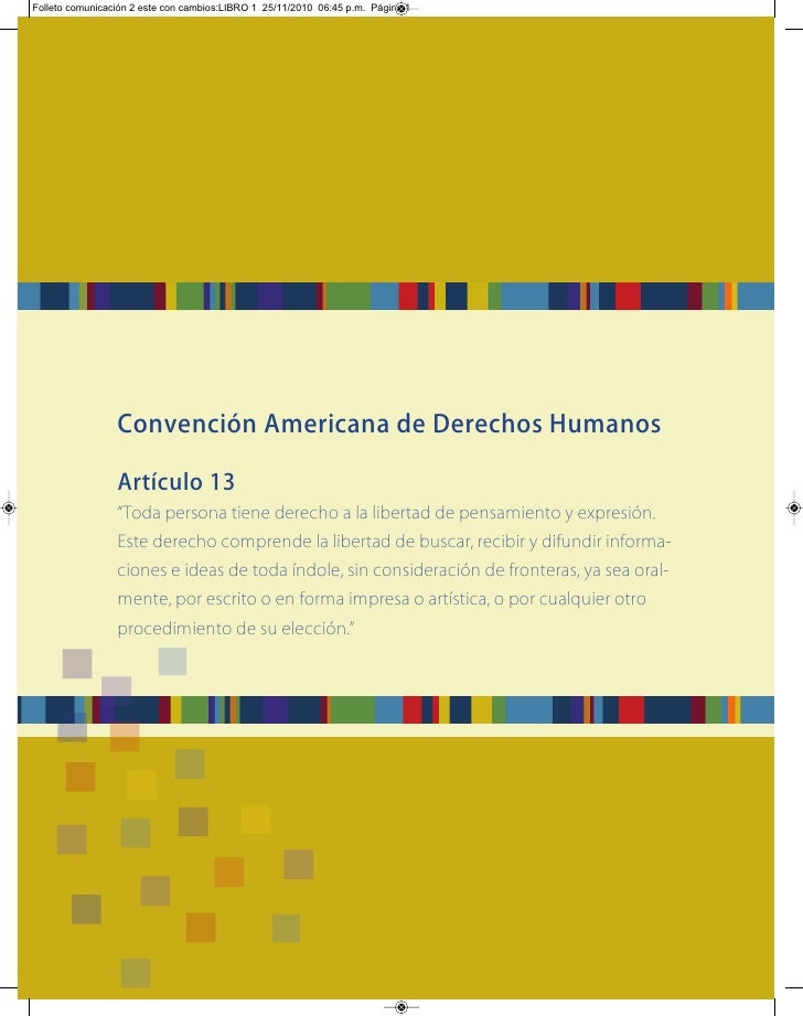 Folleto comunicación 2 este con cambios:LIBRO 1 25/11/2010 06:45 p.m. Página 1                 Convención Americana de Der...