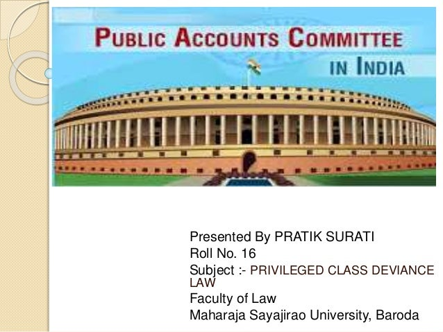 public account committee