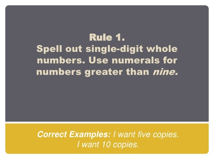 numbers essay rules When you quote poetry in an essay, cite by using line numbers rather than the page number as you would for a novel obey the same rules as any other mla quotation.