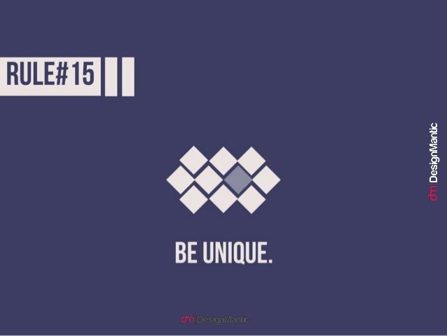 Rule #16: Bring consistency into design.