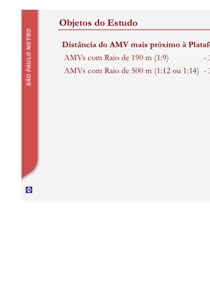 Objetos do EstudoDistância do AMV mais próximo à Plataforma AMVs com Raio de 190 m (1:9)          - 30 metros AMVs com Rai...