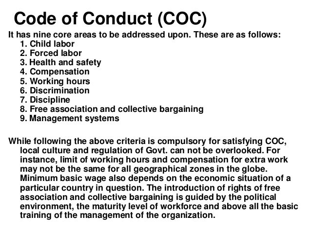 Code of ethics for fashion industry 48