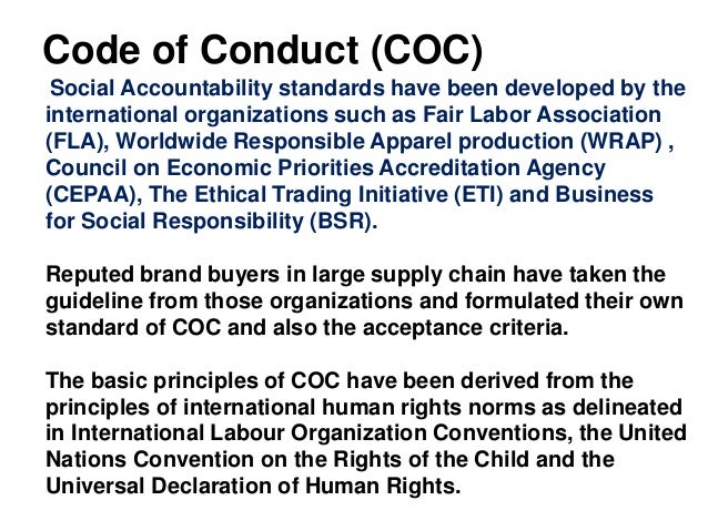 Code of ethics for fashion industry 51