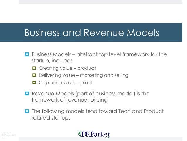 16 startup revenue models