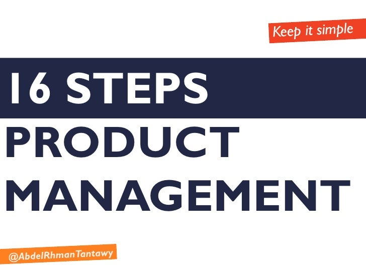 16 STEPSPRODUCTMANAGEMENT