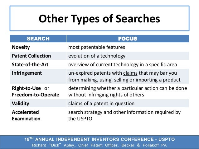16th Annual USPTO Independent Inventors Conference Slide 3