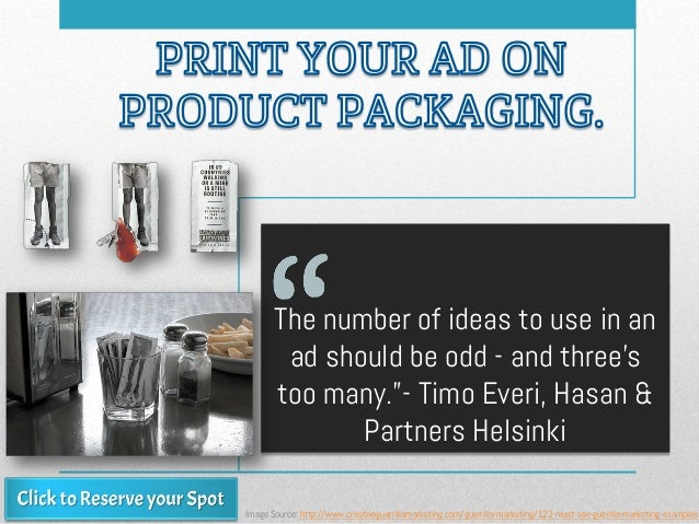 "The number of ideas to use in an ad should be odd - and three's too many.""- Timo Everi, Hasan & Partners Helsinki Image So..."