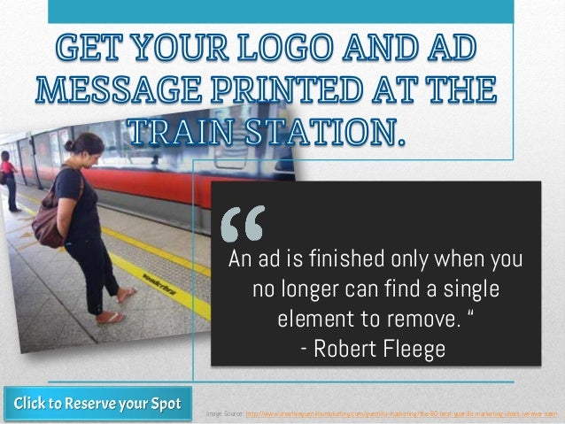 """An ad is finished only when you no longer can find a single element to remove. """" - Robert Fleege Image Source: http://www...."""